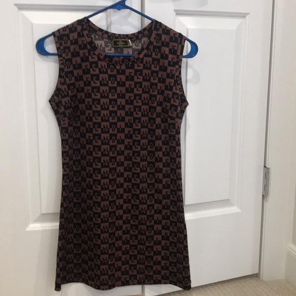 Fendi Dresses & Skirts - Fendi logo tank dress